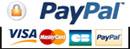 Paiement par Paypal, Visa, Mastercard, Carte bleu